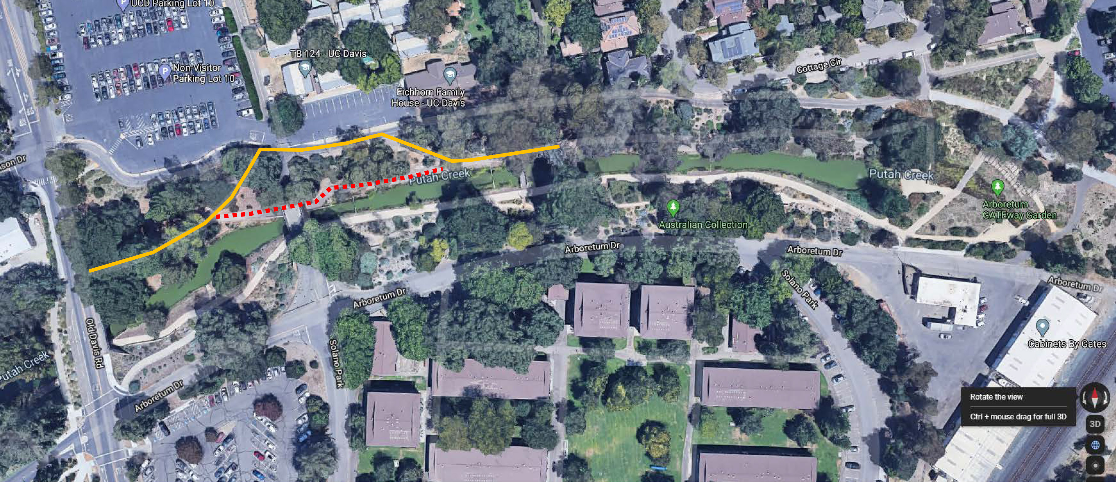 Path closure and detour on north side of bridge