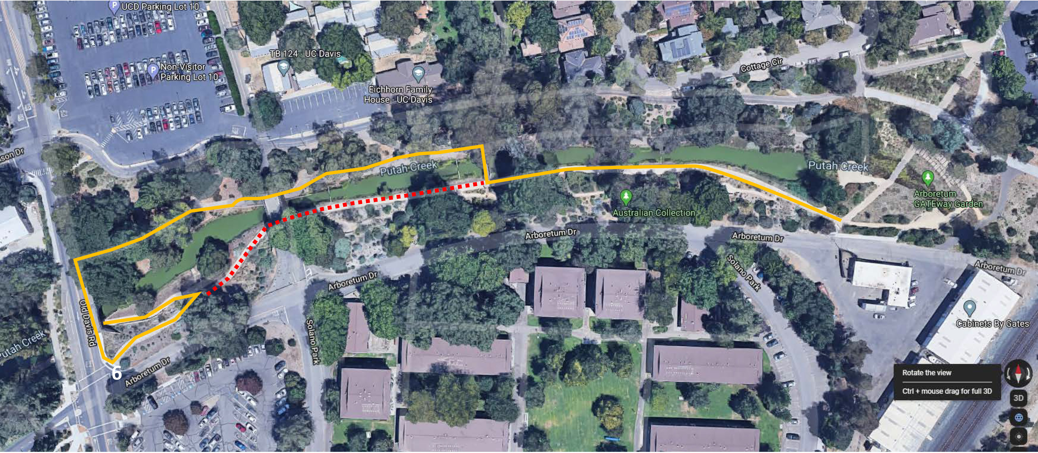 Path closure and detour on south side of bridge